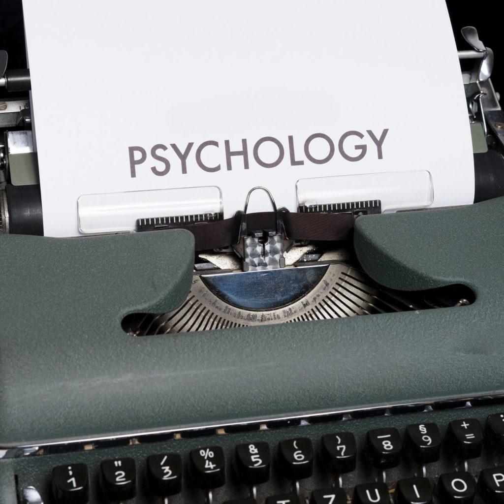 Maquina de escribir: psicología.